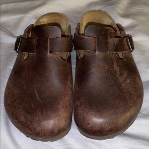 Birkenstock Boston Clogs Oiled Leather 38R